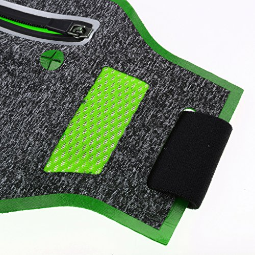 MagiDeal Outdoor Sacchetto Sacche Esterno Sport Marsupio da Escursionismo Corsa Cintura Bum Vita Bag - Rosso Verde
