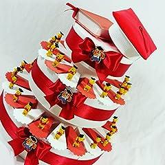 Idea Regalo - bomboniere Laurea scatoline Porta Confetti con Winnie Pooh + Confetti Rossi crispo