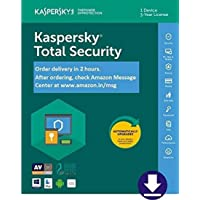 Kaspersky Total Security 2020 Latest Version - 1 User, 3 Years (Email Delivery in 2 hours- No CD)