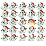 mxjeeio 25 stück weihnachtsmann blinkt LED leuchten Abzeichen brosche pins Weihnachten glühendes des weihnachtsmannes broochs Flash Supplies Shiny weihnachtsschmuck