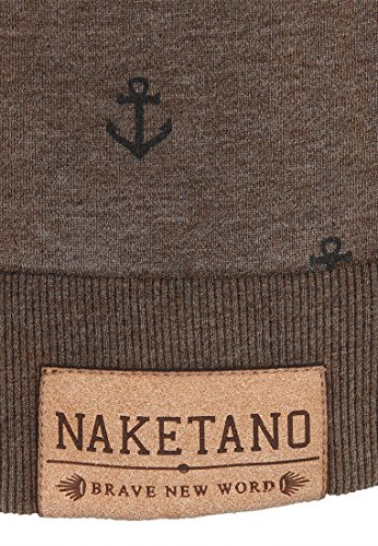 Naketano Male Sweatshirt Rise Of An Enemy III Heritage Anthracite Melange
