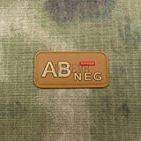 Sconosciuto Generic Tan Blood Type AB-NEG 3D Patch PVC PB1049