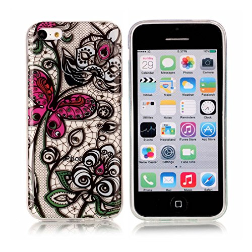 iPhone 5C Custodia,iPhone 5C copertura,piuttosto Custodia in TPU Gel Ultra sottile [Trasparente] Custodia protettiva in gomma flessibile case cover para for iPhone 5C colour 9