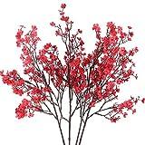 HUAESIN 4Pcs FloresArtificiales Decoración GypsophilaSimulación Flores de Sedas...