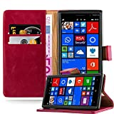 Cadorabo Book Case works with Nokia Lumia 830 in WINE RED