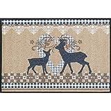 wash + dry 068273 Fußmatte Lovely Deers, 50 x 75 cm, beige