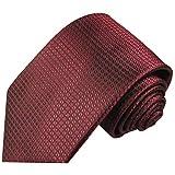 Cravate homme rouge motif gaufré 100% soie