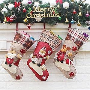 Calcetín de navidad 3 pcs,Medias