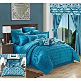 Best queen comforter set - Chic Home 24 Piece Hailee Complete Pleated Ruffles Review