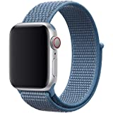 Nylon Sport Band for Apple Watch 40mm 38mm, Soft Replacement Strap for iWatch Series 4/3/2/1 (Cape Cod Blue)