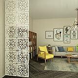 Kernorv Raumteiler Paravent Weiß DIY Paravants Raumtrenner Umweltfreundlichem PVC Holz-Plastik Trennwand Home Dekoration für Wohnzimmer, Schlafzimmer, Küche, Esszimmer - 12 PCS