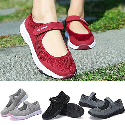 QinMM-Zapatos-Zapatillas-Respirable-Mocasines-Deportes-Mujer-Sneaker-Malla-Plataforma-Sandalias-Casual-Verano