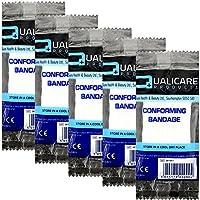 qualicare Kompression fit bequemes Erste Hilfe Bandage Unterstützung Single Pack–5cm x 4m–5Stück preisvergleich bei billige-tabletten.eu