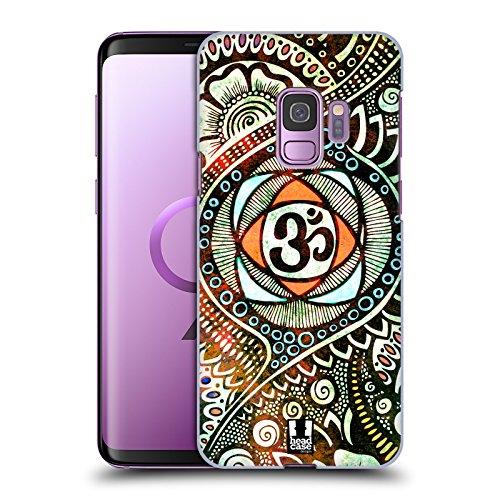 Head Case Designs Popfarben Om Zeichen Ruckseite Hülle für Samsung Galaxy S9