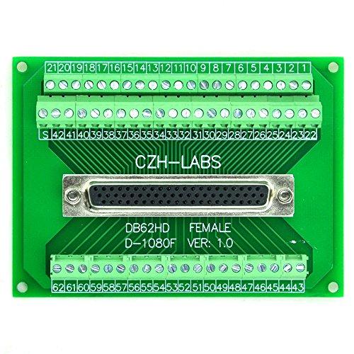 Electronics-Salon D-Sub db62hd weiblich Header Breakout Board, TERMINAL BLOCK, DSUB DB62 Anschluss. (D-sub-anschluss-block)