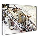 Terence Hill Bud Spencer- Der müde Joe - Pritsche - Die rechte und die linke Hand des Teufels - Leinwand (120 x 80 cm)