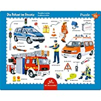 Frame puzzle The police in action (40 Pieces)