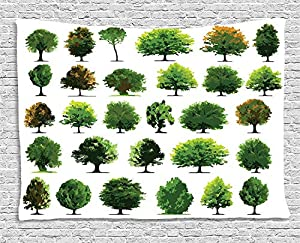 planes de diseño web: daawqee Nature Tapestry Mother Nature Gift Different Types of Trees and Pines Pl...