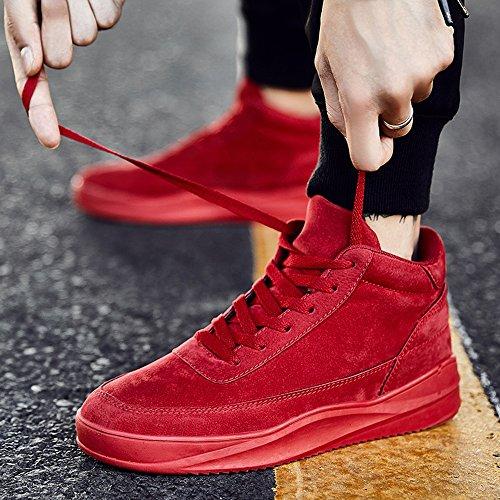 FEIFEI Scarpe da uomo Winter Leisure High Help Tide Shoes 3 Colori ( Colore : Grigio , dimensioni : EU42/UK8.5/CN43 ) Rosso