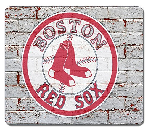 VUTTOO Large Mouse pad -Boston Red Sox Logo On Brick Wall 1218 High Quality Durable Mousepad Non-Slippery Rubber Gaming Mouse Pad Red Sox Video