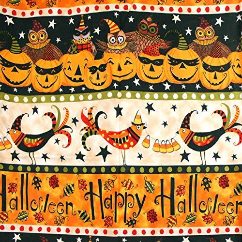 Riley Blake Halloween-Kürbis-Quilt-Stoff, Baumwolle, Fat Quarter -