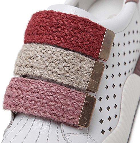 Scarpe Sportive Casual Respirabili Donna Scarpe Sportive 2017 Autunno Nuovo Spessore Bianco Single Scarpe Velcro Pink