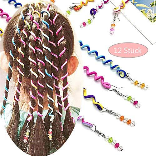 ZOCONE Haar Torsion Haarschmuck Mädchen Set 12 Stück Bunte Torsion Haarschmuck DIY Zubehör (Teens Schnelle Halloween-kostüme)