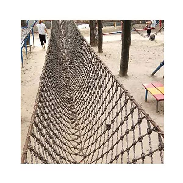 """Climbing Netting,Climbing Net for Adults 8ft Climbing Kids Climb Wall Cargo Playground Rock Tree Adult 8x8 Nylon Rope Large Play Indoor Giant Mesh Heavy Duty Climbing Net Nets Netting Outdoor  ★Climbing Net Material: polyamide fibre. ★Net Climbing Wall Characteristics: Elastically extensible ability of small, weather resistant, wear resistant, long service life,environmentally friendly, non-toxic, quality assurance.This material can change color by itself. ★Climbing Cargo Net Mesh size*rope diameter: 15cm*16mm(6""""*5/8""""),20cm*18mm(39/5""""*7/10""""),25cm*20mm(49/5""""*4/5"""").Length*width: please make purchase according to your actual needs.We have any other size (rope diameter, mesh, length * width) rope net, support customization.If you have any questions or needs, please contact us. 7"""
