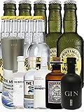 Gin Probierset (Groß) 1 x Gin Mare 0,1 Liter + Botanist 5 cl + Duke 5 cl + Brandstifter 0,1 Liter + Monkey 5 cl, + Black Gin 5 cl + 5 Thomas Henry Tonic 0,2 Liter + 5 Fentimans Tonic 0,2 Liter
