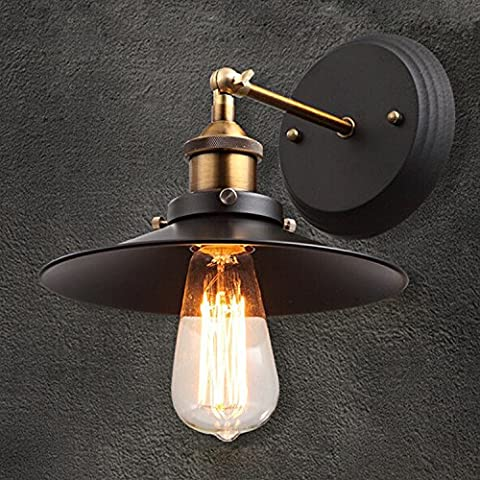 BMJQS American retro industrial iron wall lamp single Loft bed