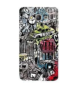 Modern Design of Modern logos 3D Hard Polycarbonate Designer Back Case Cover for Samsung Galaxy On7 :: Samsung Galaxy On 7 G600FY