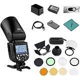 Godox V1-N Professional Camera Flash Speedlite Speedlight Round Head Wireless 2.4G Fresnel Zoom for Nikon D5300 D750 D850 D71