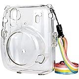Cameratas voor Fujifilm Instax Mini 11, transparante crystal case beschermhoes duurzaam afneembare beschermhoes met uitsteken