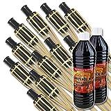 Salvare Set: XXL bambù Fiaccola da Giardino 120 cm per atmosferica Illuminazione im giardino, sul Events & Co