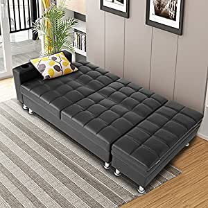 Tuff Concepts Multifunctional Faux Leather Sofa Bed With