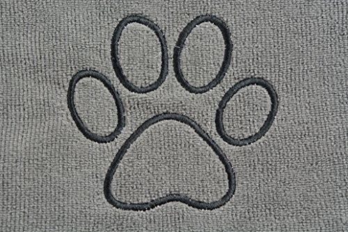 Sinland ultra saugfähiges Mikrofaser Hunde Handtuch 75 x 127 cm Grau - 6