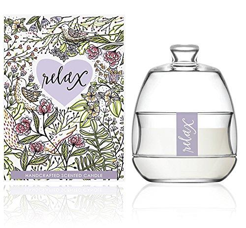 We Love Home Candela profumata di cera 100% vegetale con fragranza di fiori modello Relax Apothecarium