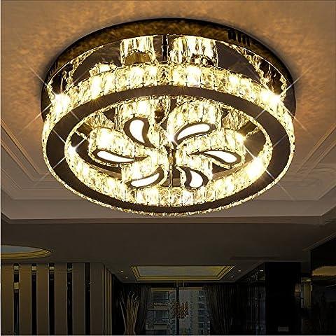 La camera da letto padronale e casa di luce luce romantica Foglie rotonde dimmer vogue ristorante camera lampada lampade,50cm ottico continuo 56W