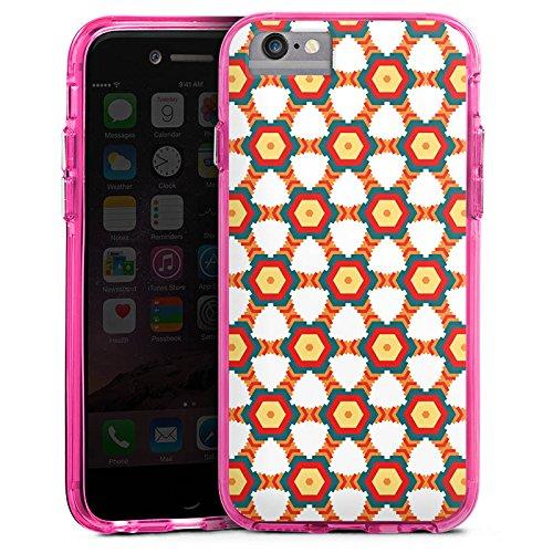 Apple iPhone 7 Bumper Hülle Bumper Case Glitzer Hülle Indien Indianer Fashion Bumper Case transparent pink