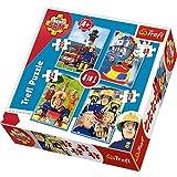 Trefl 34269 - Puzzle 4-in-1 Feuerwehrmann Sam und sein Team