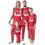TENDYCOCO Conjunto de Pijamas navideños Familiares a Juego Conjunto de Pijamas de Navidad Conjunto de Pijamas de Vacaciones p