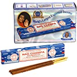 Großpackung Nag Champa, die blauen. 12 Päckchen mit je 15 g Inhalt, gesamt 180 g.