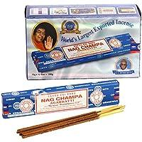 Nag Champa Großpackung, blau, 12 Päckchen mit je 15 g Inhalt, gesamt 180 g. preisvergleich bei billige-tabletten.eu
