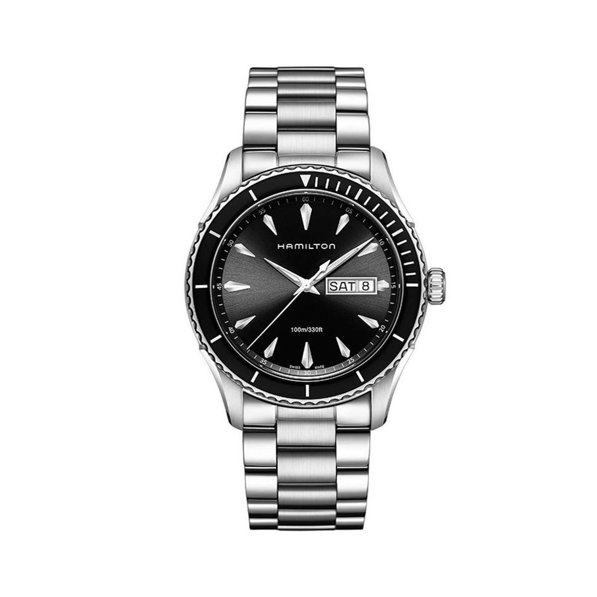 Hamilton Men's Analogue Quartz Watch with Stainless Steel Strap H37511131