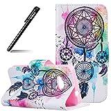 Schutzhülle Case für MicroLumia 550 Nokia N550,BtDuck Schwarz Hülle Handyhülle PU Briefcase Tier Blume Schmetterling Bunt Cover Tasche Etui Hülle Leder Silikon - Bunt Campanula