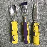 disabili Easy grip posate con manico grande coltello, forchetta e cucchiaio in schiuma artrite