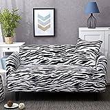 QINQIN Europäischen Stil Blume Sofabezug Stretch,All-Inclusive Einfache dreiköpfige Sofabezug Volle Deckung-Couch-U 92-118in