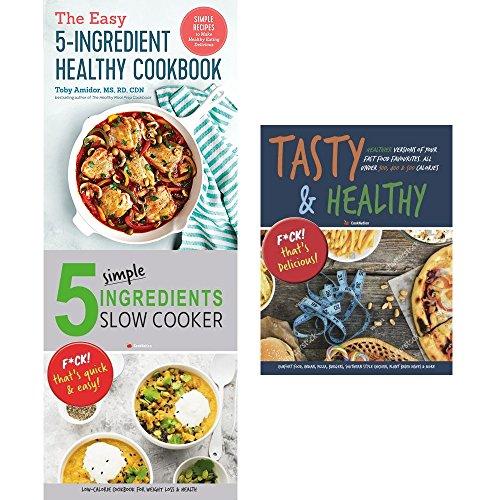 Set di 3 Libri da Collezione con 5 ingredienti per Cucinare in Modo salutare e Gustoso e Sano.