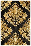 #3: BDPP Washable Vinyl Coated Wallpaper (Black and Gold, W280)