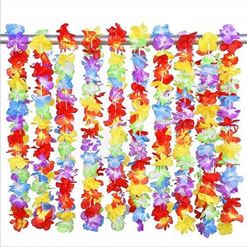 FYYDNZA 1 Stücke 100 Cm Dicken Hula Kranz Kragen Hals Ring Brust Ring Leistung Party Kranz (Weiß Draht Brust)